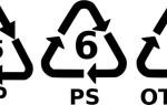 HDPE, PET, PP5 и другие виды пищевого пластика
